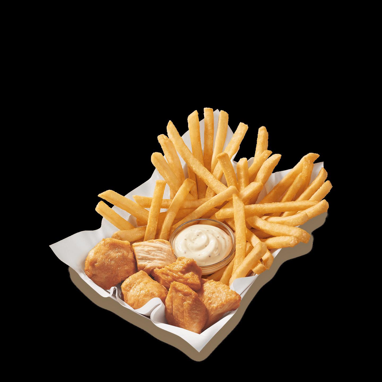 rotisserie-style chicken bites basket