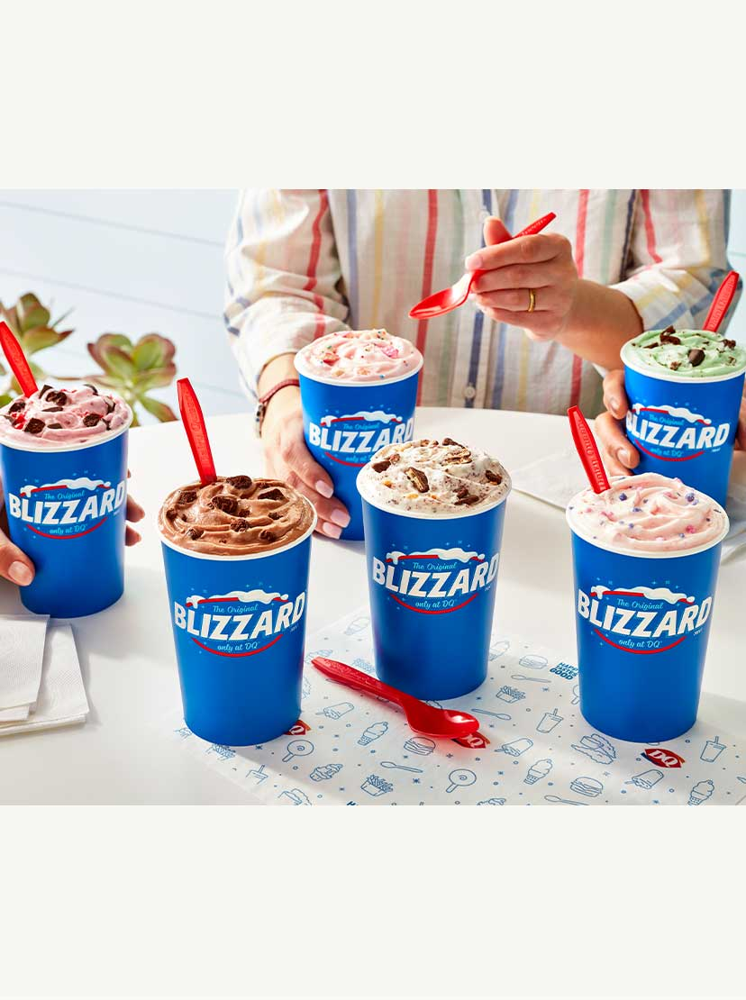 Summer Blizzard Menu