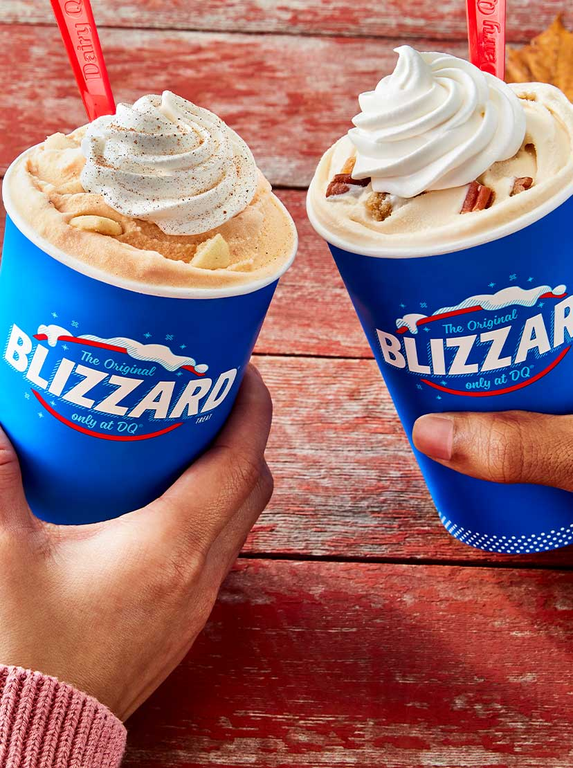 Pumpkin and Pecan Pie Blizzard treats
