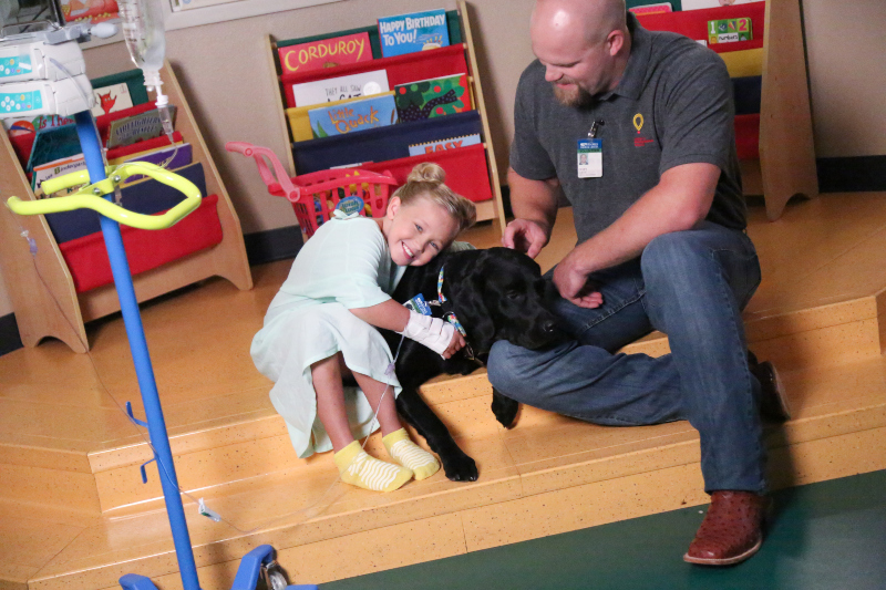 Children's Miracle Network animal therapy in Portland