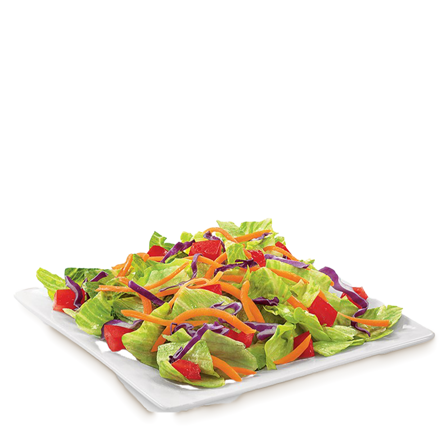 Side Salad on a white plate