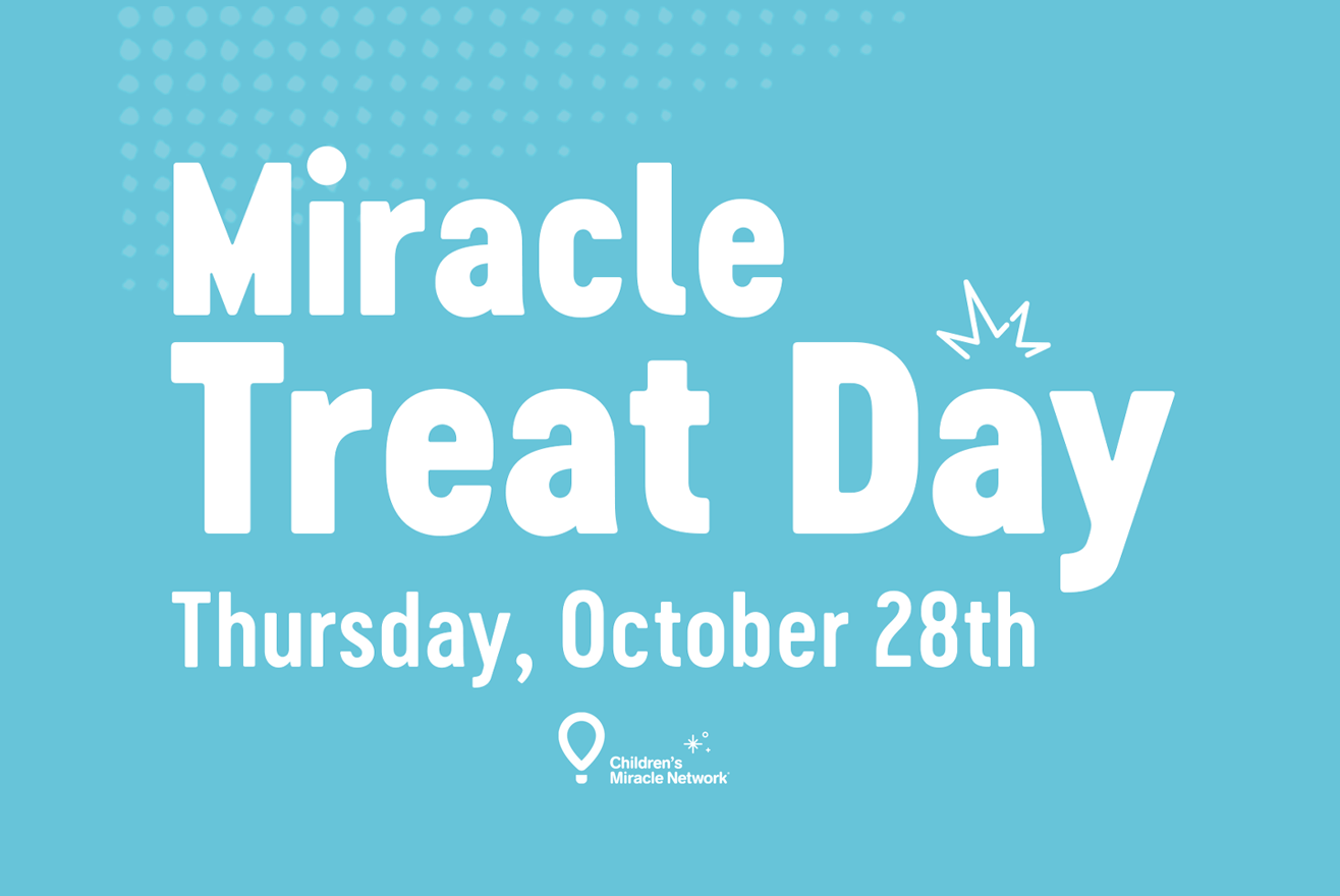 Children's Miracle Network Hospitals logo and Dairy Queen illustration