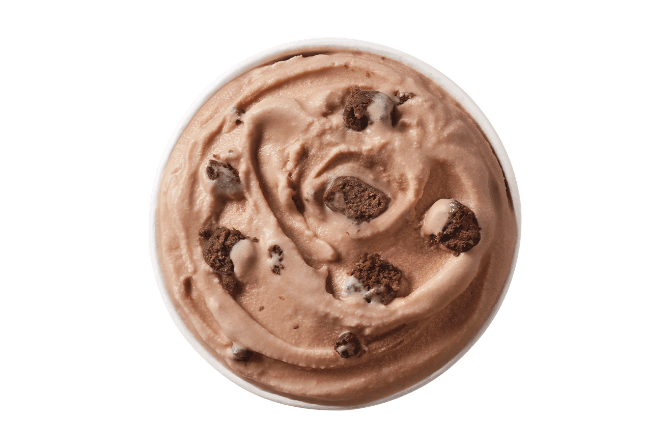 Brownie Batter Blizzard Treat Top