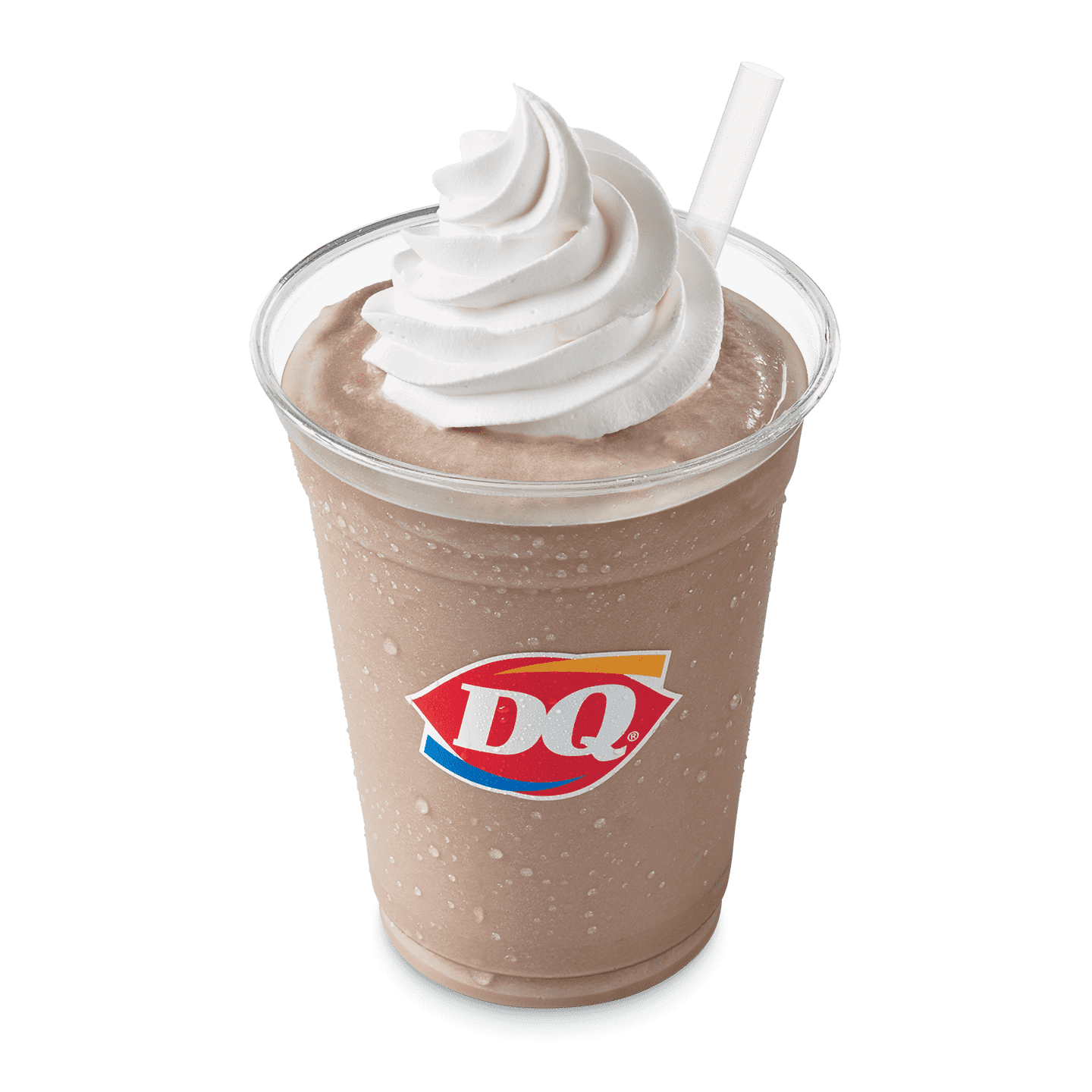Chocolate shake or malt with whipped topping